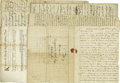 Autographs:Statesmen, Collection of Colonial and Early American Documents and Lettersincluding approximately ten items, mostly handwritten, and a...(Total: 10 )