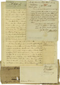Autographs:Statesmen, Continental Congress Autograph Collection consisting of tenexcellent signatures, letters, and documents. Included in this i...(Total: 10 )