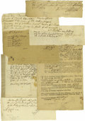 Autographs:Statesmen, New England Colonial American Documents 1). CambridgeMassachusetts, Aug. 24, 1763. A pay receipt for two barrels ofSug... (Total: 12 )