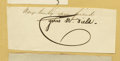 Autographs:Celebrities, 19th Century Autograph Collection A-F consisting of numerous cut signatures lightly mounted to folders and arranged by lette... (Total: 100 )