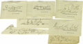 Autographs:Military Figures, Ten 7th Cavalry Officers Clipped Autographs. This collection of signatures, scalped by savages from larger documents and ret... (Total: 10 )