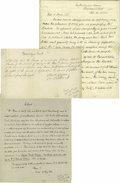 Autographs:Authors, Autograph Collection of Religious Writers and Clergymen consistingof six items. Includes: Merle d'Aubigne (1794-1872), ...