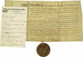 Autographs:Statesmen, New York Governors Autograph Collection consisting of approximately16 signed items from 14 different governors- signatures,... (Total:16 )