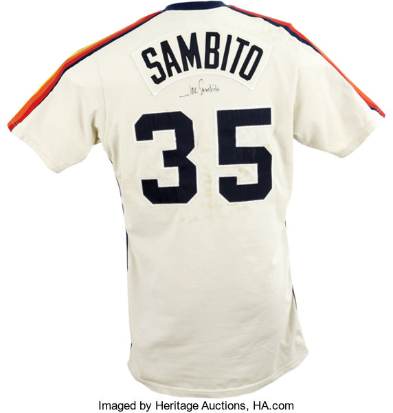 timeless design 2548e d2d10 Classic example  Baseball Collectibles Uniforms, 1982 Joe Sambito Game Worn  and Signed Jersey.