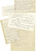 Autographs:Authors, Lot of Miscellaneous Literary Autographs P-S, 23 Items representing 20 authors and poets. Items date from the mid-19th to mi... (Total: 23 )
