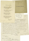 Autographs:Authors, Lot of Miscellaneous Literary Autographs S-W, 31 Items pertainingto 26 authors and poets. Included are the following: Oley ...(Total: 31 )