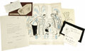 Autographs:Artists, Cartoon Illustrations and Autographs A collection of autographs andassorted illustrations from many of the early cartoonis... (Total:11 )