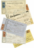 Miscellaneous:Ephemera, 1860s-1870s New York Fire Insurance Policy Collection consisting ofmore than 25 documents, all related to the estate of Joh... (Total:25 )