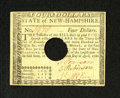 Colonial Notes:New Hampshire, New Hampshire April 29, 1780 $4 About New. A light center fold isaccompanied by plenty of original embossing and three bold...