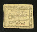Colonial Notes:North Carolina, North Carolina August 8, 1778 $5 Extremely Fine-About New. A lovelyexample of this uncommonly seen North Carolina series th...