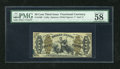 """Fractional Currency:Third Issue, Fr. 1363 50c Third Issue Justice PMG Choice About Unc 58EPQ. This is an exceptional example of this scarce """"1"""" and """"a"""" Justi..."""
