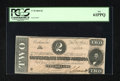 Confederate Notes:1864 Issues, T70 $2 1864. This is a well preserved Confederate note for this design. PCGS New 61PPQ....