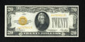 Small Size:Gold Certificates, Fr. 2402 $20 1928 Gold Certificate. Choice Crisp Uncirculated.. A little bit of handling keeps this fresh and bright gold ce...