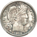 Barber Half Dollars, 1892-S 50C MS64 PCGS....