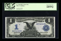 Large Size:Silver Certificates, Fr. 230 $1 1899 Silver Certificate Star Note PCGS Superb Gem New68PPQ....