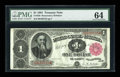 Large Size:Treasury Notes, Fr. 350 $1 1891 Treasury Note PMG Choice Uncirculated 64....