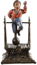 Antiques:Toys, Boy on the Trapeze Mechanical Bank...