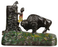 Antiques:Toys, Butting Buffalo Mechanical Bank...