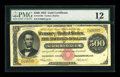 Large Size:Gold Certificates, Fr. 1216b $500 1882 Gold Certificate PMG Fine 12....