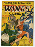 Golden Age (1938-1955):War, Wings Comics #26 (Fiction House, 1942) Condition: FN-....