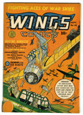 Golden Age (1938-1955):War, Wings Comics #25 (Fiction House, 1942) Condition: VG/FN....