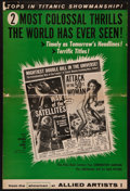 "Movie Posters:Science Fiction, War of the Satellites/Attack of the 50 Foot Woman (Allied Artists,1958). Uncut Pressbook (8 Pages, 12"" X 18""). Science Fict..."