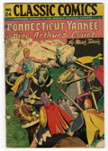 Golden Age (1938-1955):Classics Illustrated, Classic Comics #24 A Connecticut Yankee in King Arthur'sCourt(Gilberton, 1945) Condition: GD/VG....