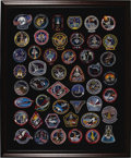 Transportation:Space Exploration, Amazing Collection of American Space Shuttle Program Patchesconsisting of approximately 90 pieces, beautifully and archival...(Total: 2 Item)