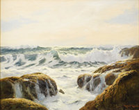 ROBERT WILLIAM WOOD (American 1889-1979) Sparkling Sea Oil on canvas 24 x 30-1/8 inches (61.0 x 7