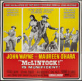 "Movie Posters:Western, McLintock! (United Artists, 1963). Six Sheet (81"" X 81""). Western.. ..."