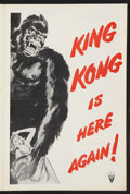 "Movie Posters:Horror, King Kong (RKO, R-1956). Pressbook (8 Pages, 12"" X 18""). Horror....."