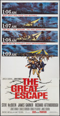"Movie Posters:War, The Great Escape (United Artists, 1963). Three Sheet (41"" X 80"").War.. ..."