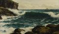 Paintings, David James (British, 1872-1904). The Tide Coming In Off the East Coast . 1889. Oil on canvas. Signed, titled, and...