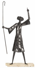 Fine Art - Sculpture, American:Contemporary (1950 to present), An American Iron Sculpture: The Prophet. . Robert Shinn(American). 20th century. Iron on stone base. Unmarked ...
