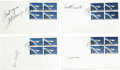 "Explorers:Space Exploration, Four First Day Covers Signed by Original Mercury Astronauts GordonCooper, Scott Carpenter, John Glenn, and Deke Slayton ""...(Total: 4 Item)"