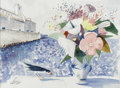 Paintings, CHARLES LEVIER (French, 1920 - 2004). Le Mer. Watercolor on paper. 32 x 39in. (sight size). Signed lower right. From t...