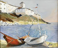 Paintings, CHARLES LEVIER (French, 1920 - 2004). Batueaux aux Repos. Oil on canvas. 20 x 24in. (sight size). Signed lower right. ...