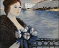 Fine Art - Painting, European:Contemporary   (1950 to present)  , CHARLES LEVIER (French, 1920 - 2004). Le Balcon. Oil oncanvas. 20 x 24in. (sight size). Signed lower right. From the ...