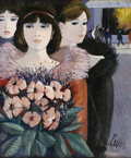 Fine Art - Painting, European:Contemporary   (1950 to present), CHARLES LEVIER (French, 1920 - 2004). Promenade. Oil oncanvas. 24 x 20in. (sight size). Signed lower right. From the ...