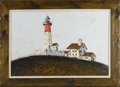 Fine Art - Painting, American:Contemporary   (1950 to present)  , FORSTER. Lighthouse. Oil on canvas. 24 x 36in.. Signed lowerright FORSTER. From the collection of Richard and Rit...