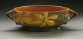 Ceramics & Porcelain, American:Modern  (1900 1949)  , AN AMERICAN POTTERY BOWL. Roseville, 1944. The Clematispattern with wide cylindrical bowl, applied handles in matte p...