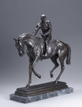 Bronze:European, AFTER ISIDORE JULES BONHEUR. Lord Lyon - The Derby 1866.Bronze on marble base. 24 1/2 x 22 1/2 x 7in.. Signed to base ...