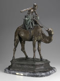 Bronze:European, BARYE. Camel. Bronze with green patina on marble base. 28 x15 x 20in.. Inscribed BARYE. From the collection of Ri...