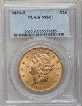 Liberty Double Eagles: , 1889-S $20 MS62 PCGS. PCGS Population (710/339). NGC Census:(522/106). Mintage: 774,700. Numismedia Wsl. Price for problem...