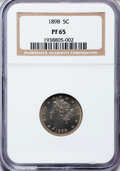 Proof Liberty Nickels: , 1898 5C PR65 NGC. NGC Census: (102/52). PCGS Population (95/25).Mintage: 1,795. Numismedia Wsl. Price for problem free NGC...