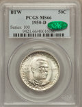 Commemorative Silver: , 1950-D 50C Booker T. Washington MS66 PCGS. CAC. PCGS Population(176/3). NGC Census: (125/15). Mintage: 6,004. Numismedia W...