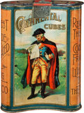 Advertising:Tobacciana, Continental Cubes Pocket Tobacco Tin....