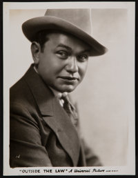 "Edward G. Robinson in Outside the Law (Universal, 1930). Photo (8"" X 10""). Crime"