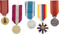 Militaria:Insignia, Poland: Five Military Medals, including: 30 Year Long Service Medal; Medal of Merit for Safeguarding National Monumen...