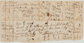 "Autographs:Statesmen, [Eighteenth-Century Commerce]. Autograph Bill Signed by ""MilfoulLims[?]"". Poor...."